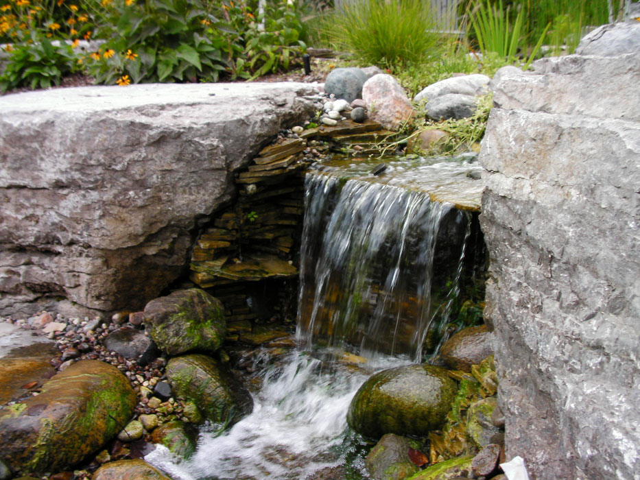 Waterfalls And Streams Genoscape Inc Landscaping Amp Design Services In Markham Toronto And
